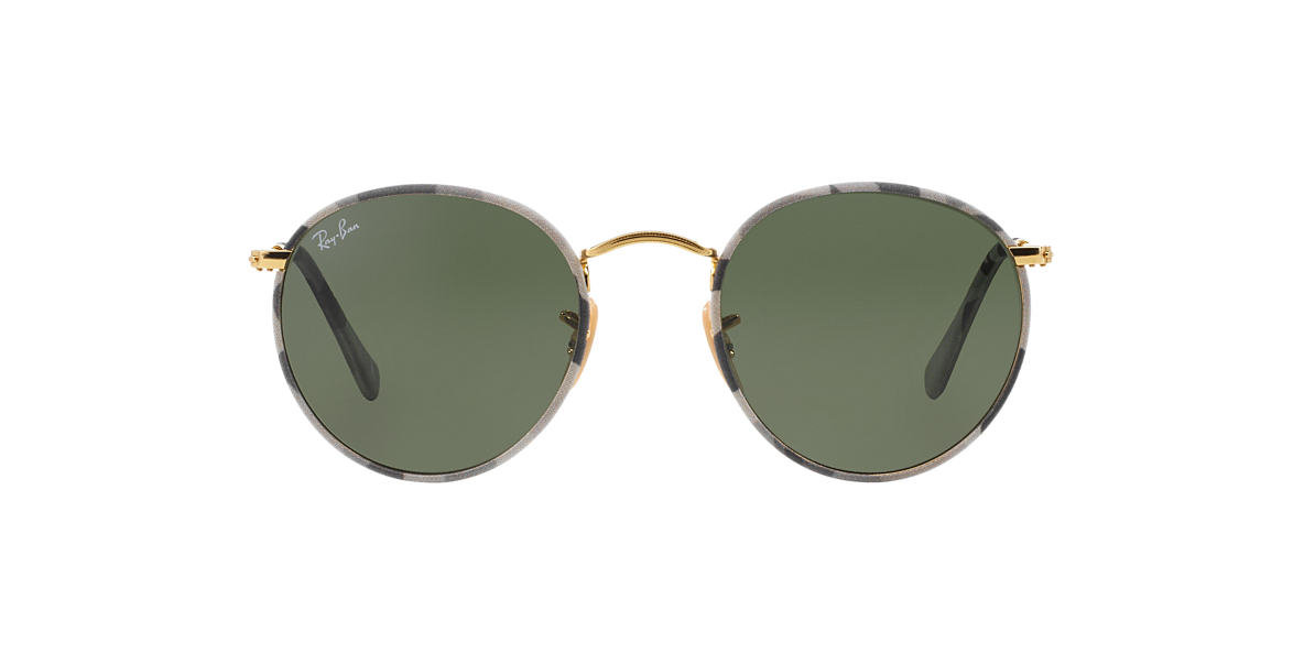 RAY-BAN Multicolor RB3447JM 50 ROUND METAL Green lenses 50mm