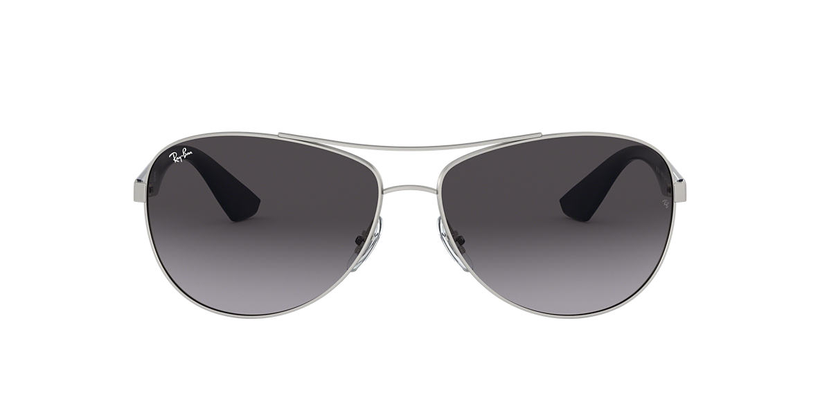 RAY-BAN Silver Matte RB3526 63 Grey lenses 63mm