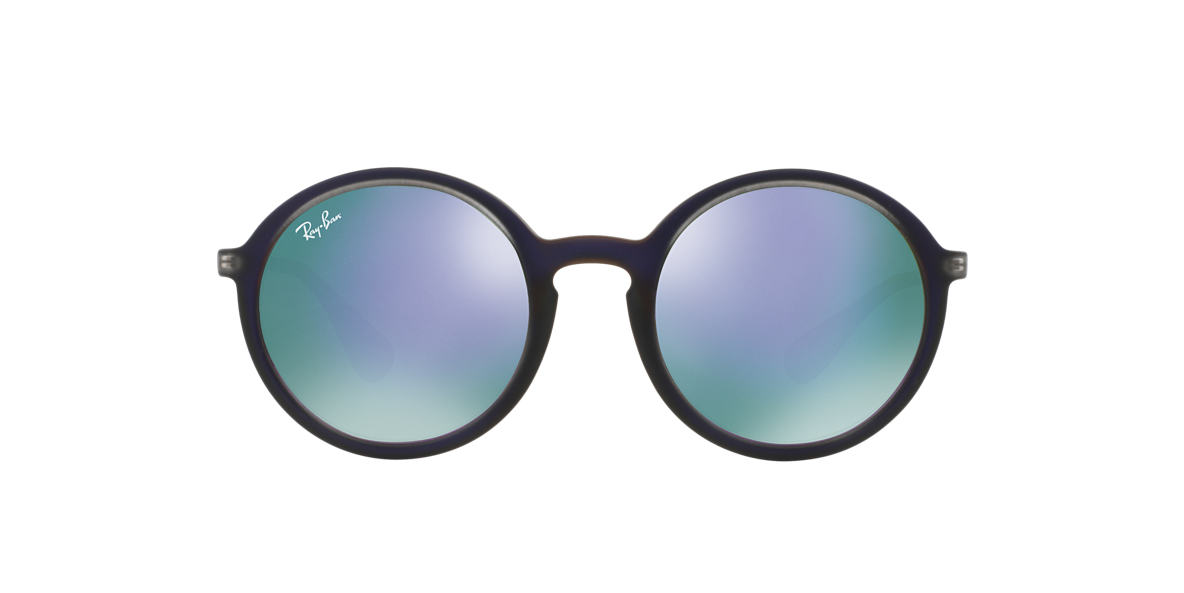 Ray Ban Purple Round Sunglasses