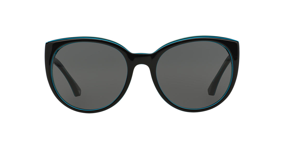 EMPORIO ARMANI Black EA4043 55 Blue lenses 55mm