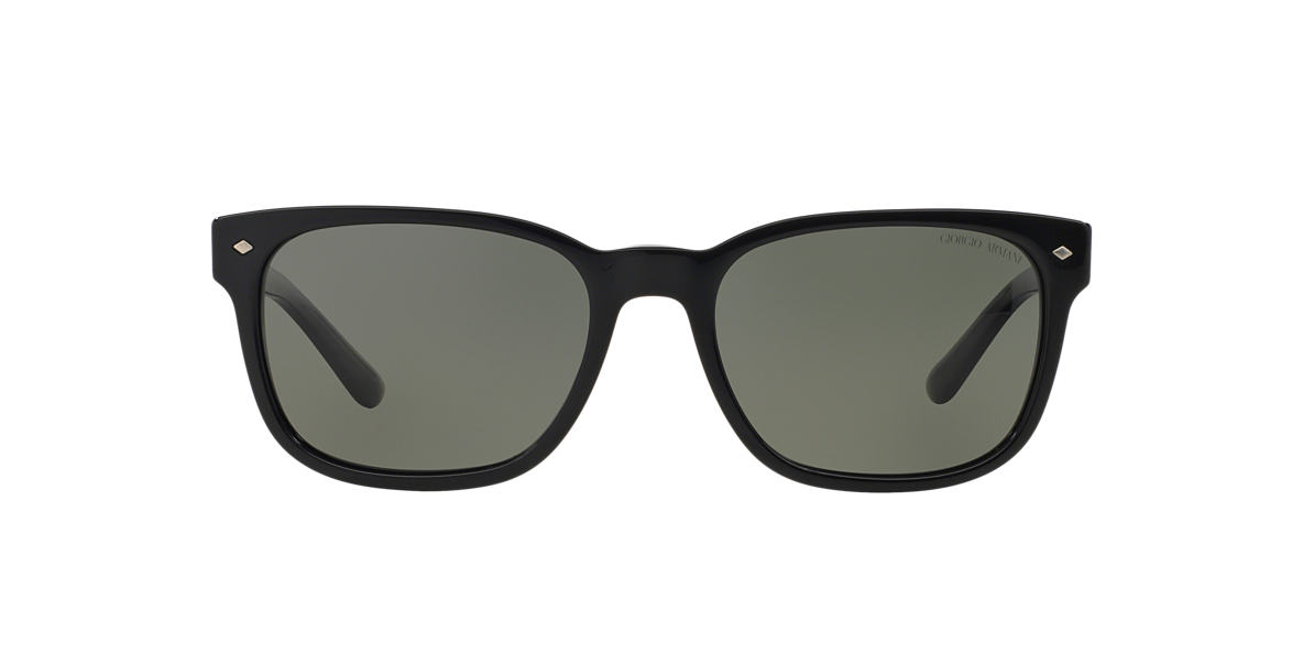 GIORGIO ARMANI Black AR8049 56 Green polarized lenses 56mm