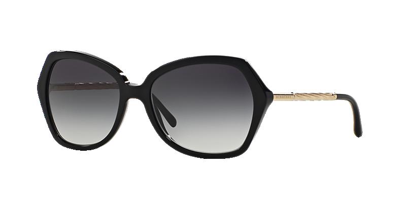 Burberry Be4193 57 Black Square Sunglasses