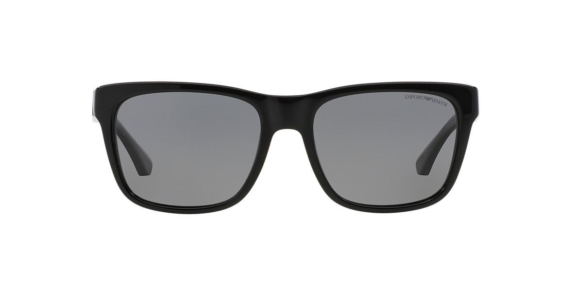 EMPORIO ARMANI Black EA4041 Grey polarised lenses 56mm