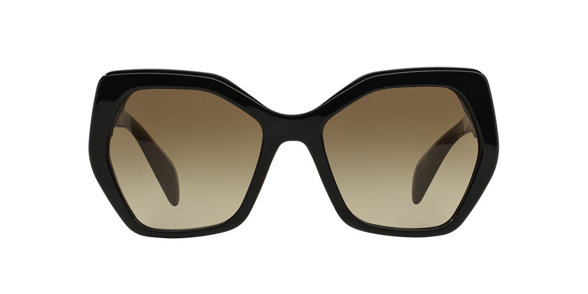 PRADA Black PR 16RS 56 Brown lenses 56mm