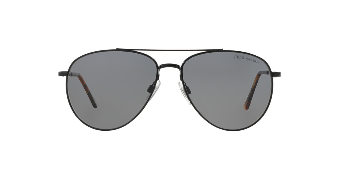 POLO RALPH LAUREN Black PH3094 59 Grey polarized lenses 59mm