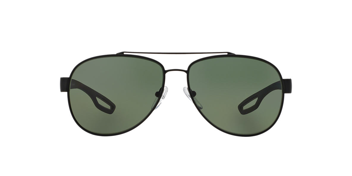 PRADA LINEA ROSSA Black Matte PS 55QS 62 Green polarized lenses 62mm