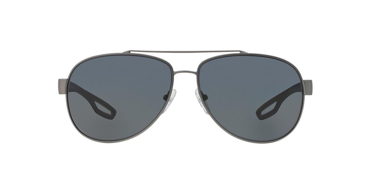 PRADA LINEA ROSSA Silver PS 55QS Grey polarised lenses 59mm