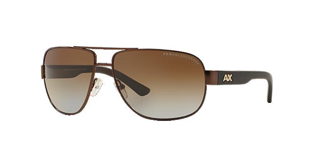 Image of Armani Exchange Brown Aviator Sunglasses - ax2012s