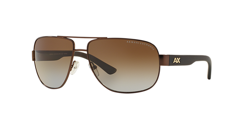 Armani Exchange Ax2012s 62 Brown Aviator Sunglasses