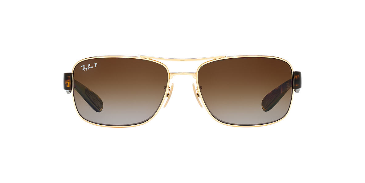 RAY-BAN Gold RB3522 61 Brown polarized lenses 61mm