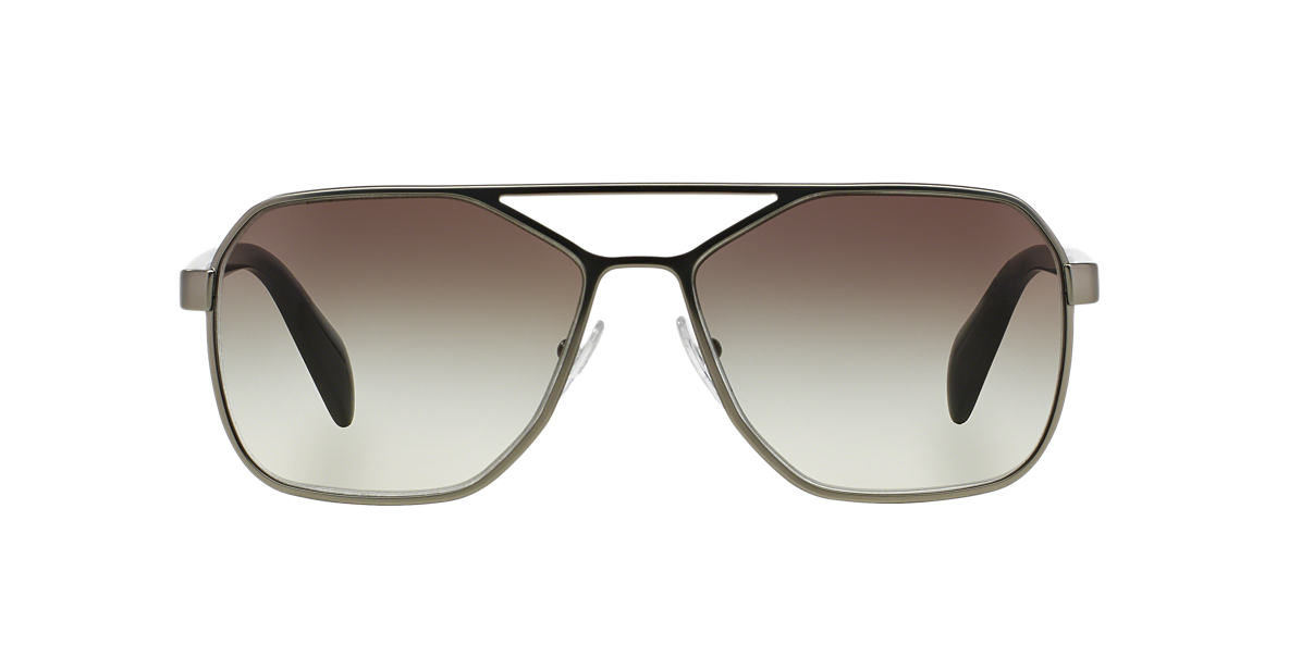 PRADA Gunmetal Matte PR 54RS 60 TYPE Grey lenses 60mm
