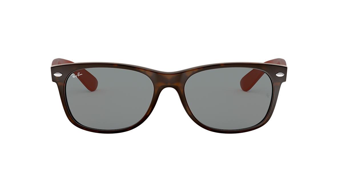 RAY-BAN Tortoise Matte RB2132 55 NEW WAYFARER Grey lenses 55mm