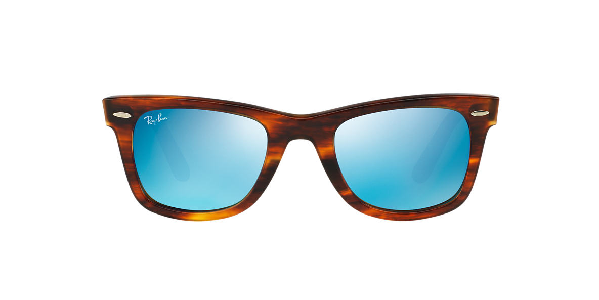 RAY-BAN Tortoise RB2140 50 ORIGINAL WAYFARER Blue lenses 50mm