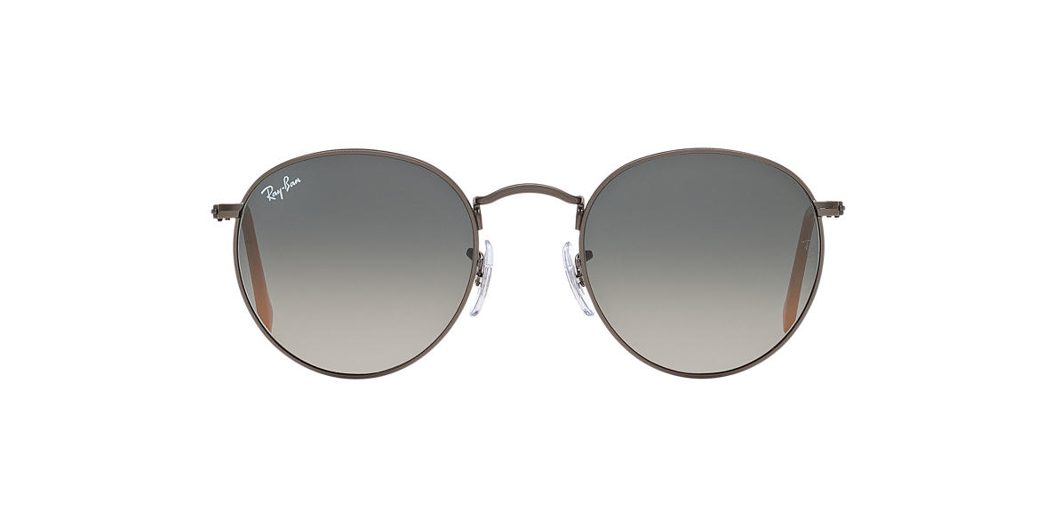 ray ban unisex round sunglasses  ray ban rb3447 50 round metal 50 grey & gunmetal matte sunglasses