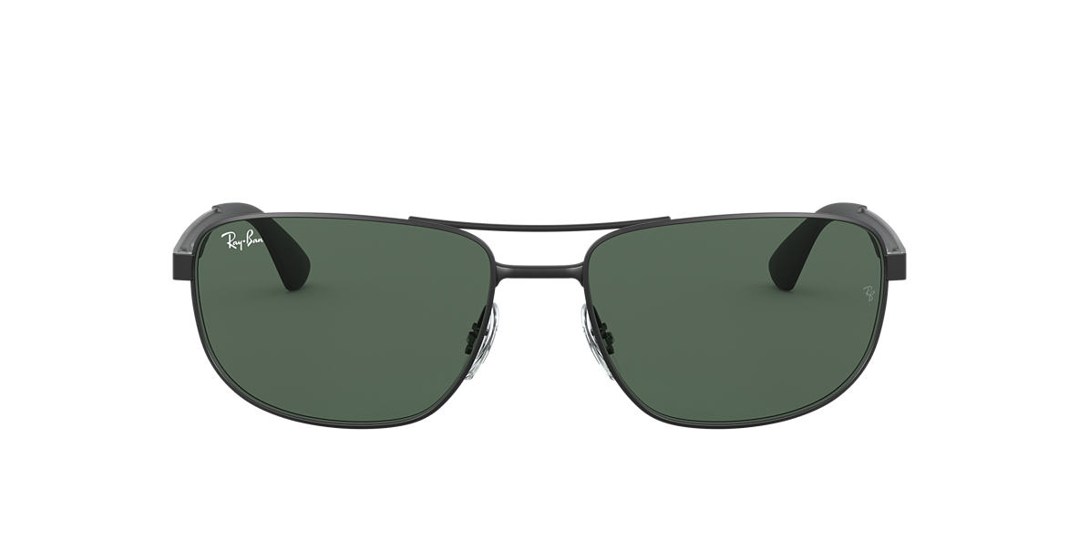 RAY-BAN Black RB3528 61 Green lenses 61mm