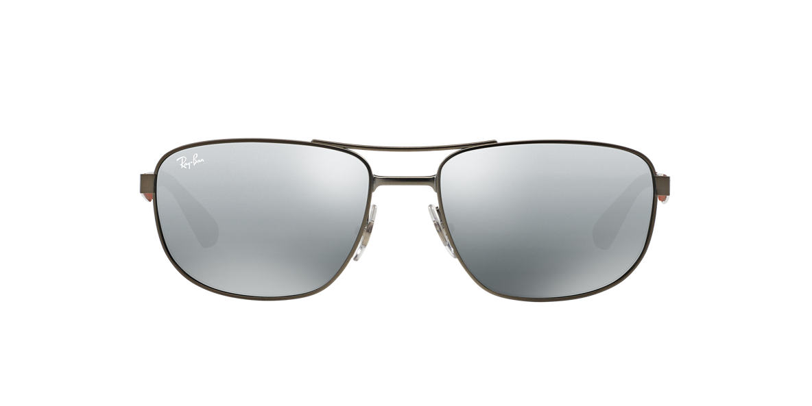 RAY-BAN Gunmetal Matte RB3528 61 Silver lenses 61mm