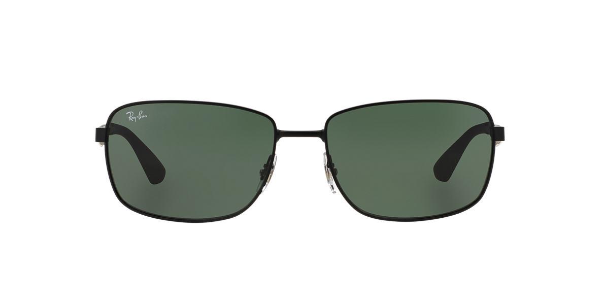 RAY-BAN Black Matte RB3529 58 Green lenses 58mm