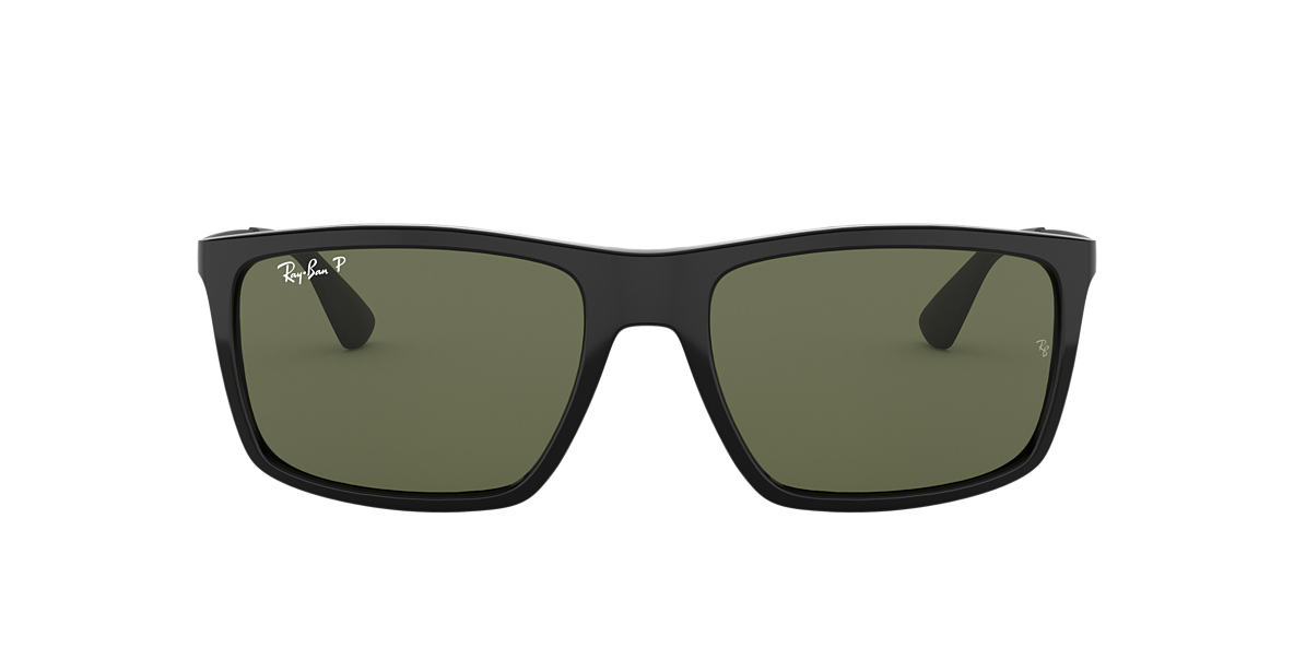 RAY-BAN Black RB4228 Green polarised lenses 58mm