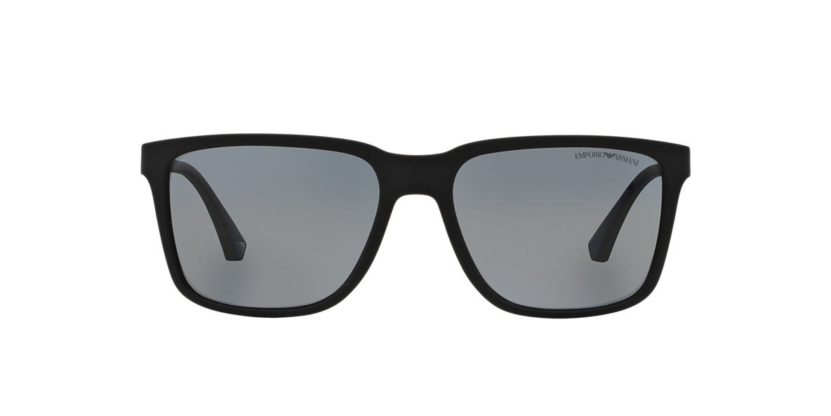 EMPORIO ARMANI Black EA4047 Grey polarised lenses 56mm
