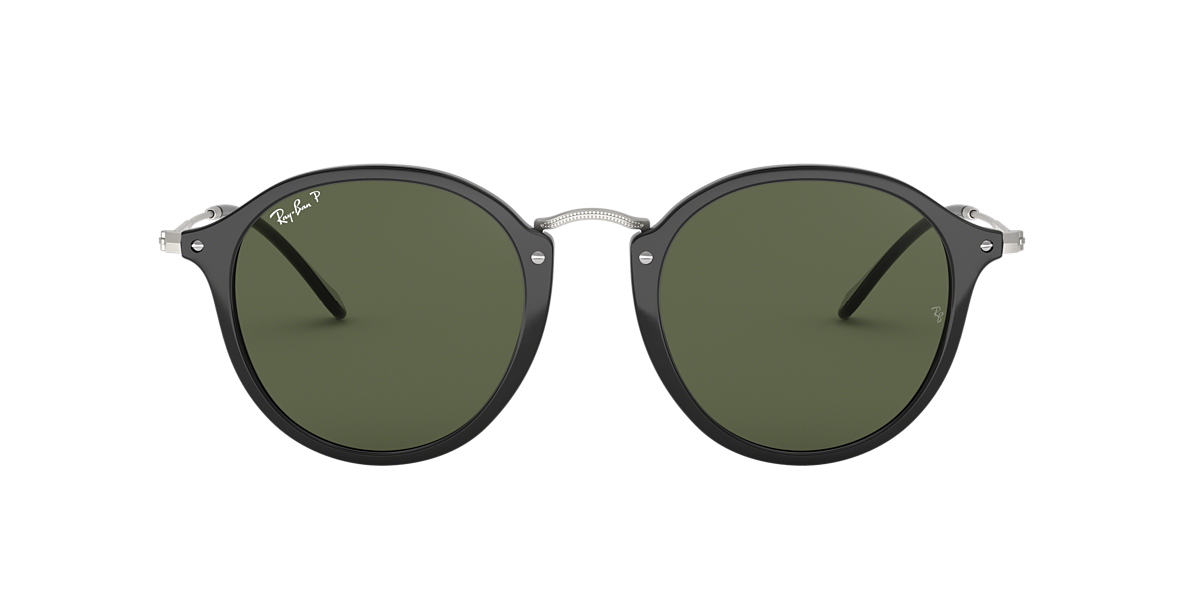 RAY-BAN Black RB2447 49 Green polarised lenses 49mm