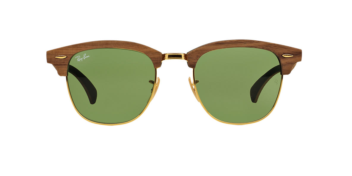 ray ban rb3016m clubmaster wood - Wood Framed Sunglasses