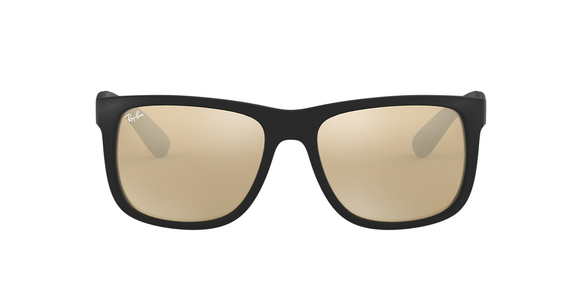 RAY-BAN Black RB4165 51 JUSTIN Gold lenses 51mm