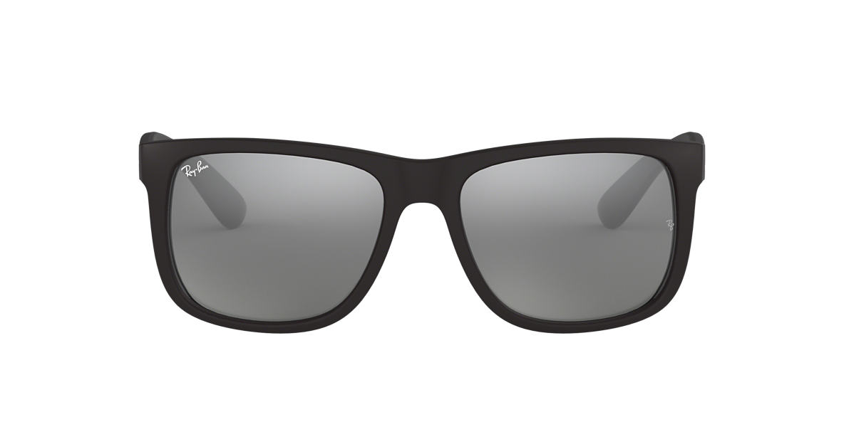 RAY-BAN Black RB4165 51 JUSTIN Silver lenses 51mm