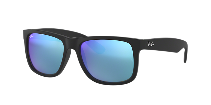 Ray-Ban Rb4165 54 Justin Black Rectangle Sunglasses