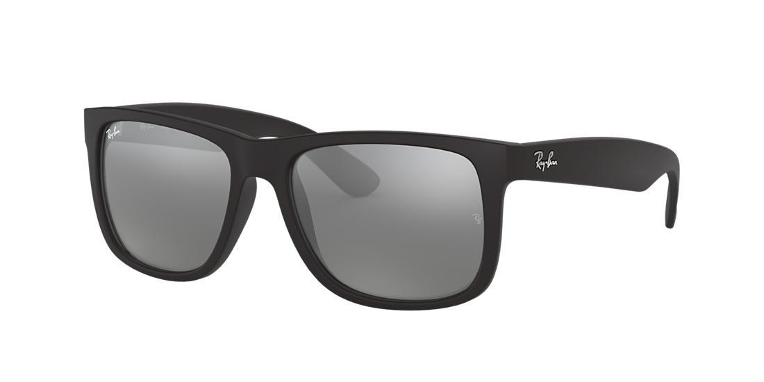 8ac26204500d Ray-Ban Justin Black Rectangle Sunglasses - rb4165