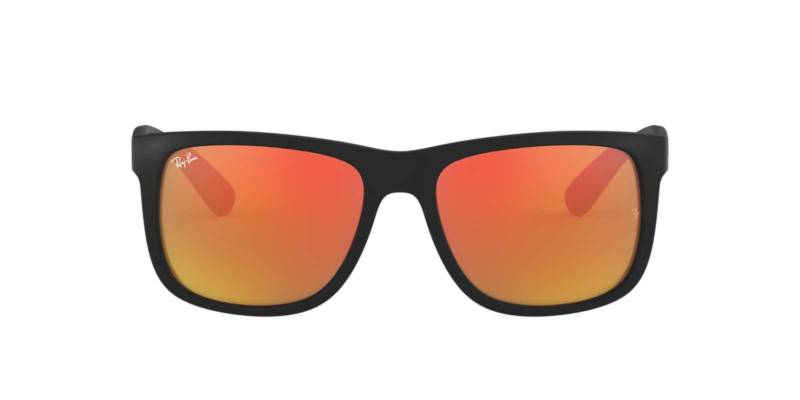 ray ban orange and black
