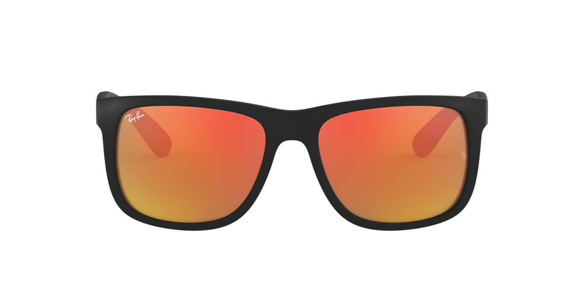 RAY-BAN Black RB4165 54 JUSTIN Orange lenses 54mm