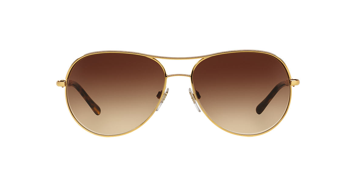 BURBERRY Gold BE3082 57 Brown lenses 57mm