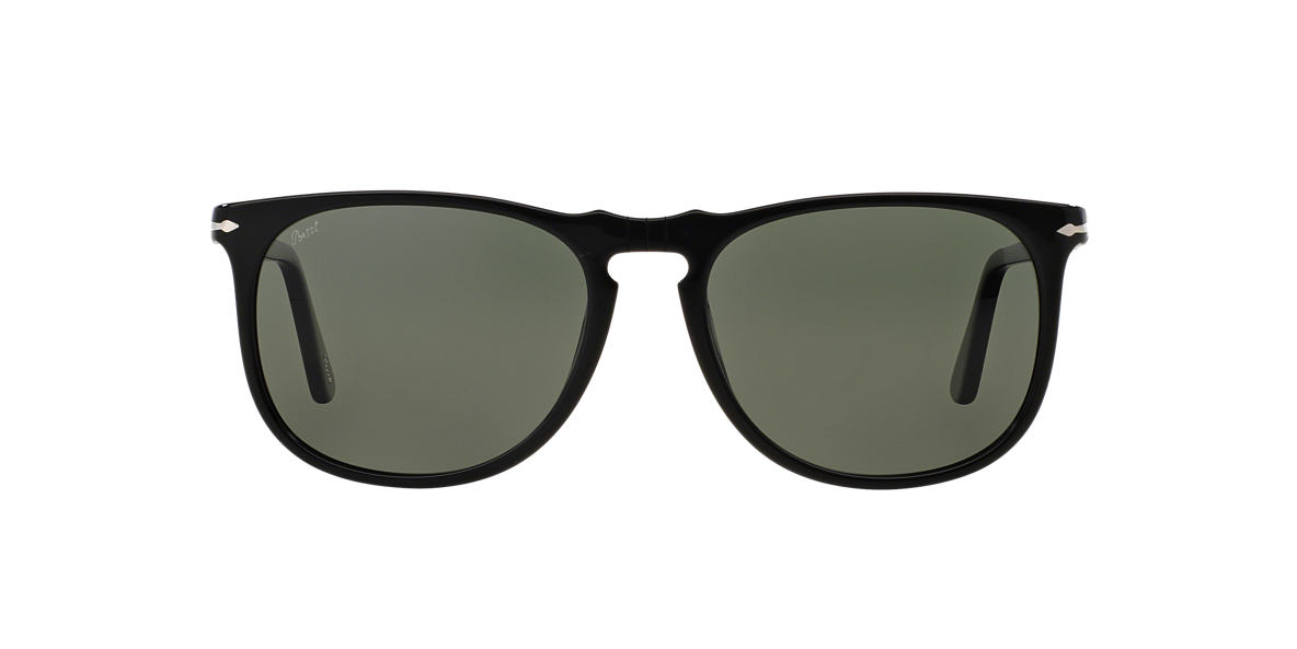 PERSOL Black PO3113S 57 Green polarised lenses 57mm
