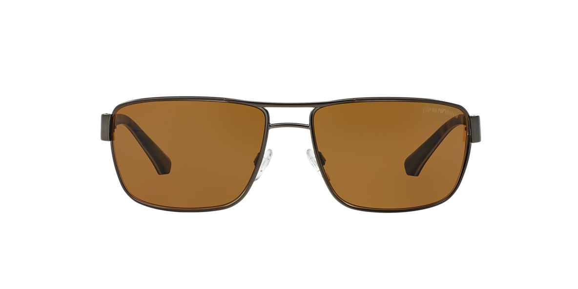 EMPORIO ARMANI Gunmetal EA2031 62 Brown polarised lenses 62mm