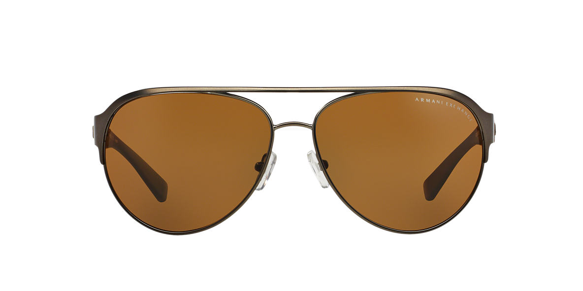 ARMANI EXCHANGE Silver AX2015S Brown polarised lenses 62mm
