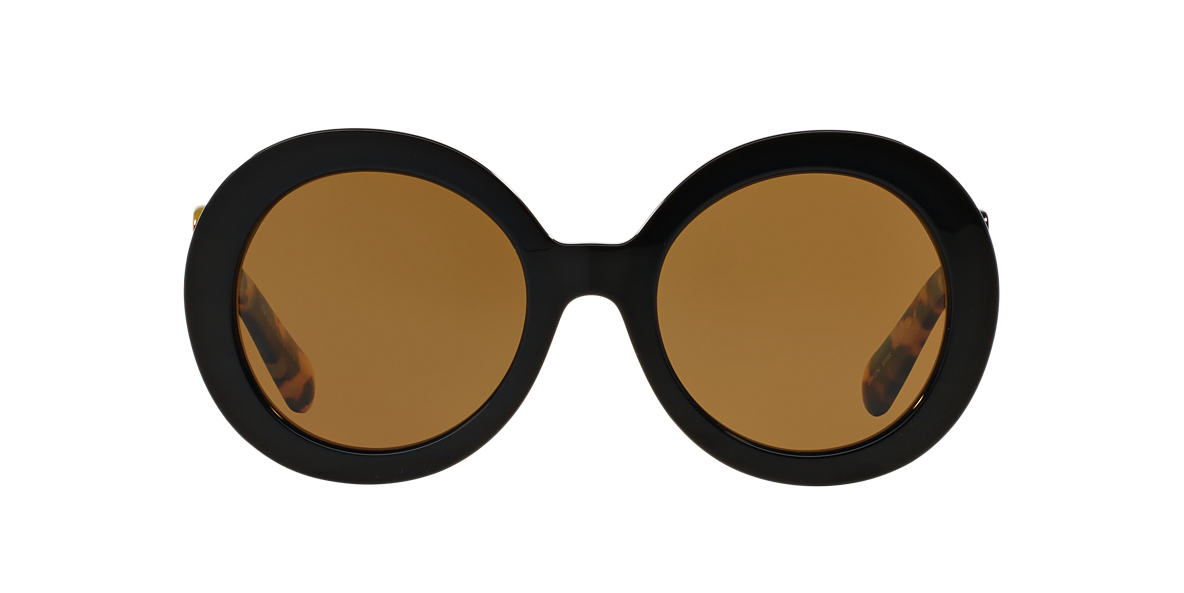 PRADA Black PR 27NS Brown polarised lenses 55mm