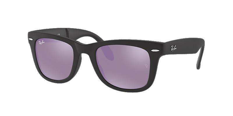 Ray-Ban Rb4105 50 Folding Wayfarer Black Matte Sunglasses