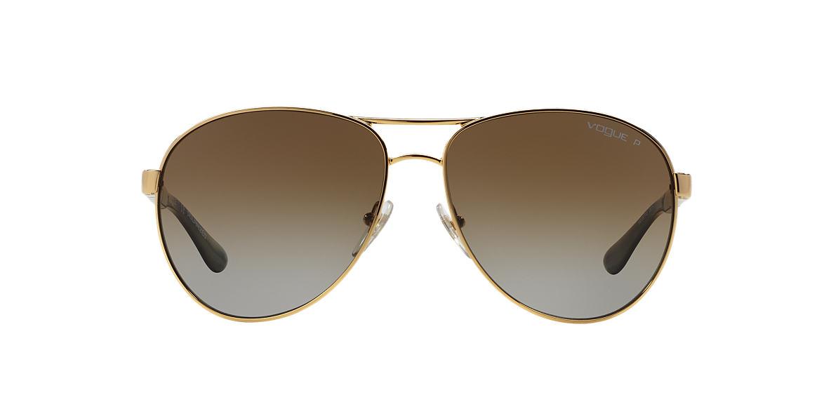 VOGUE LINE Gold VO3977S 60 Brown polarized lenses 60mm