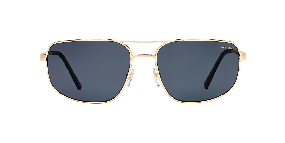 VERSACE Gold VE2158 63 Grey polarized lenses 63mm