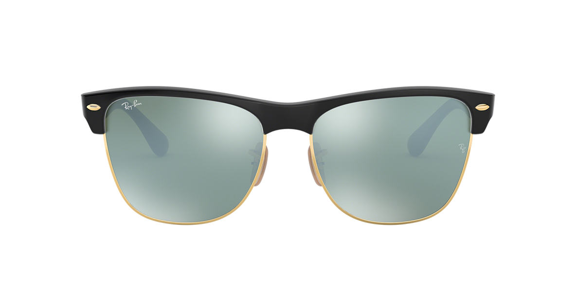 ray ban clubmaster sunglasses oversized  ray ban rb4175 57 clubmaster oversized 57 silver & black sunglasses