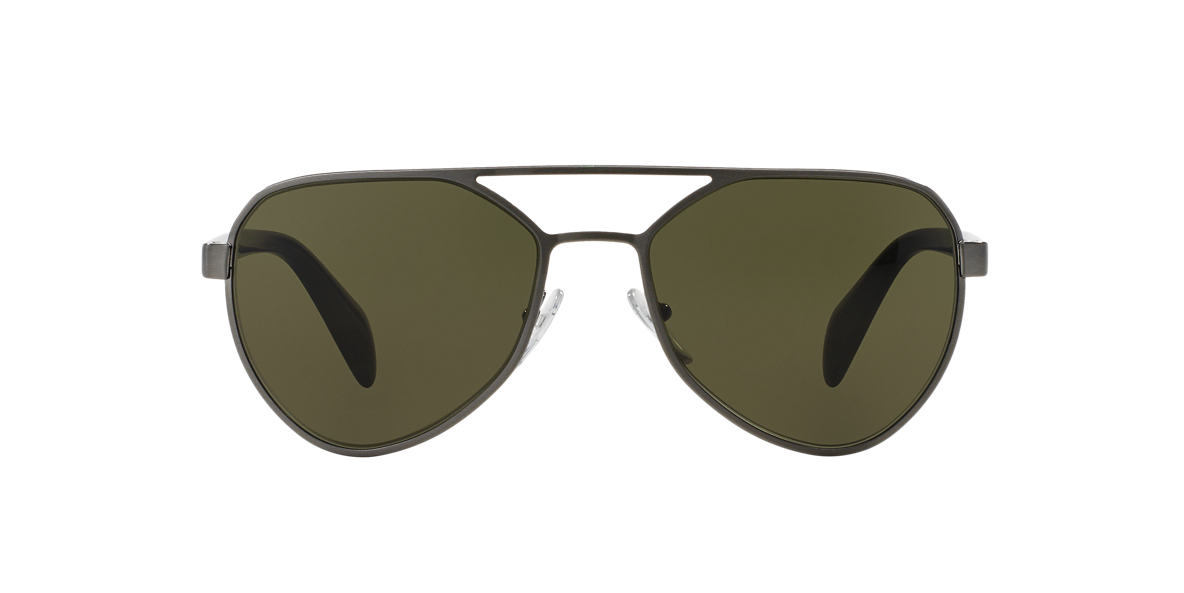 PRADA Gunmetal PR 55RS 58 Green lenses 58mm