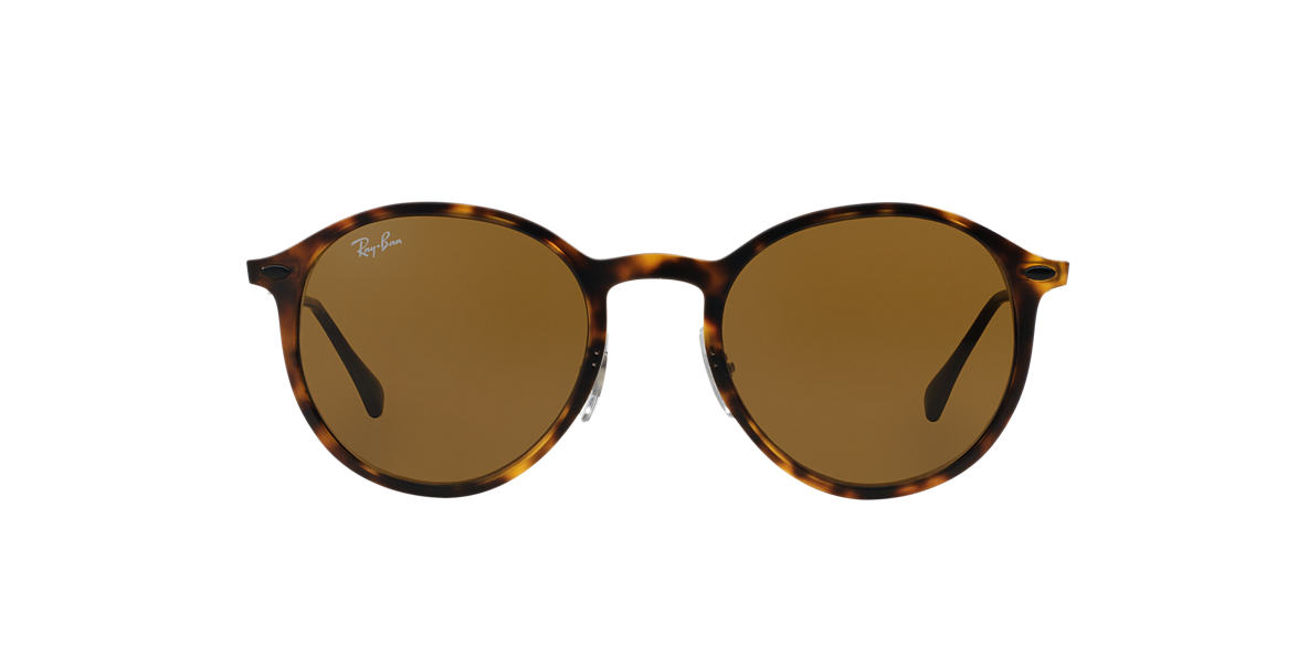 Ray Ban Round Sunglasses  ray ban rb4224 round light ray 49 brown & tortoise matte sunglasses