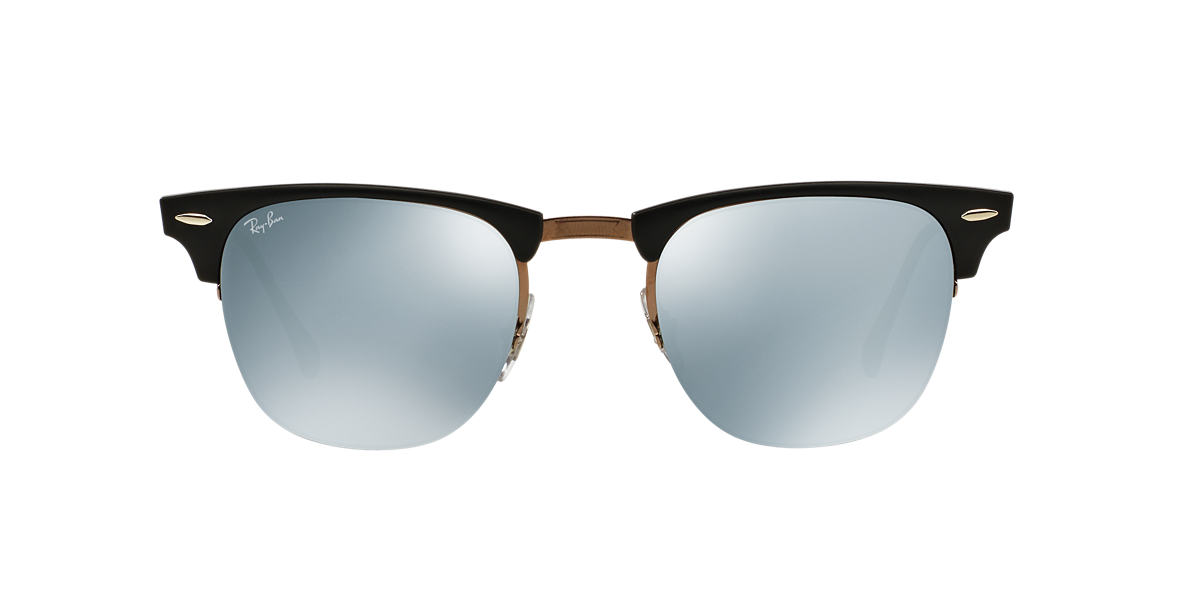 RAY-BAN Black RB8056 49 LIGHT RAY Silver lenses 49mm