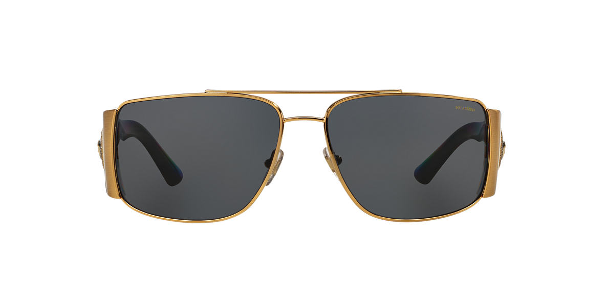 VERSACE Gold VE2163 63 Grey polarized lenses 63mm
