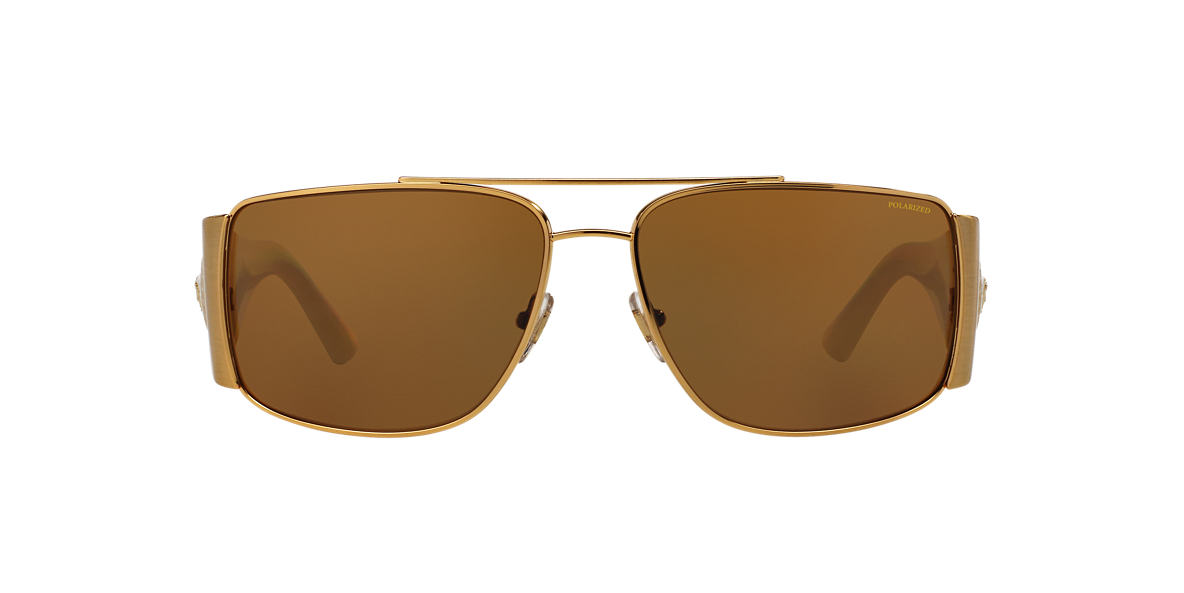 VERSACE Multicolor VE2163 63 Brown polarized lenses 63mm