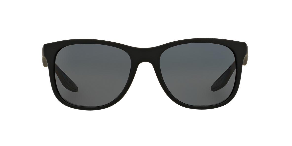 PRADA LINEA ROSSA Black PS 03OS Grey polarised lenses 55mm