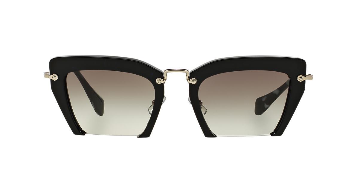 MIU MIU Black MU 10QS 54 rasoir Grey lenses 54mm