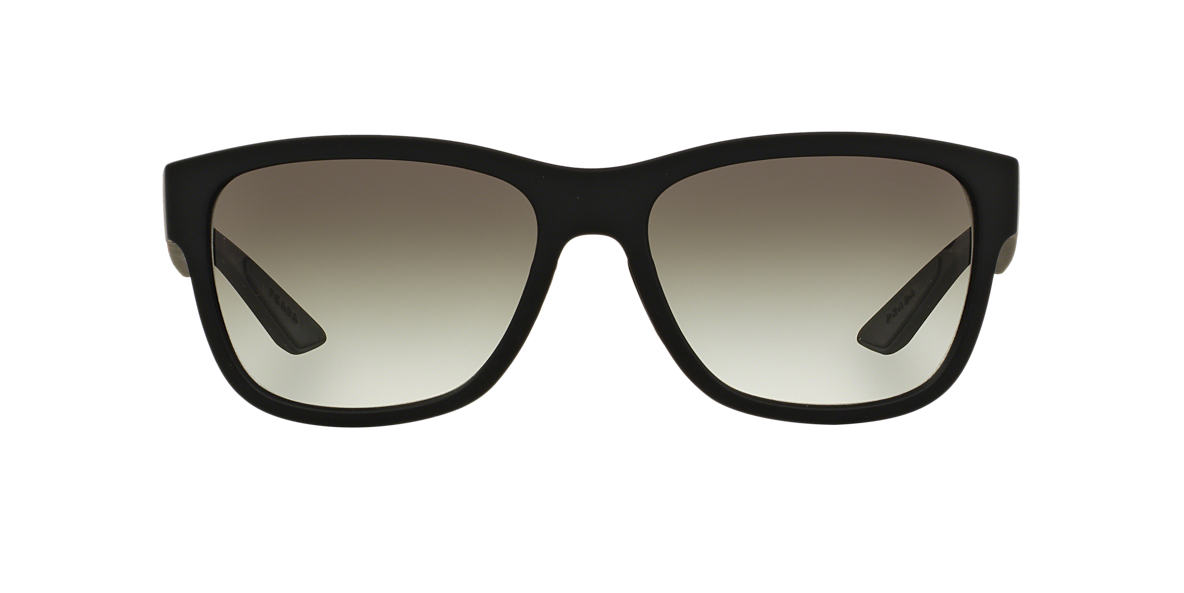 PRADA LINEA ROSSA Black PS 03QS Grey lenses 57mm