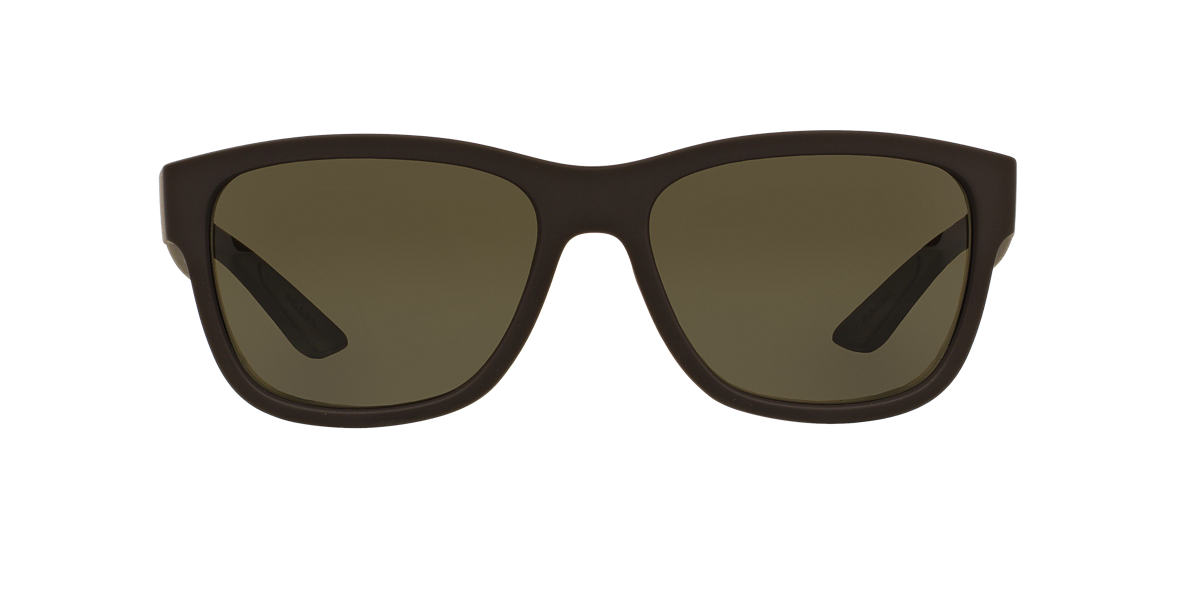 PRADA LINEA ROSSA Brown PS 03QS 57 Green lenses 57mm
