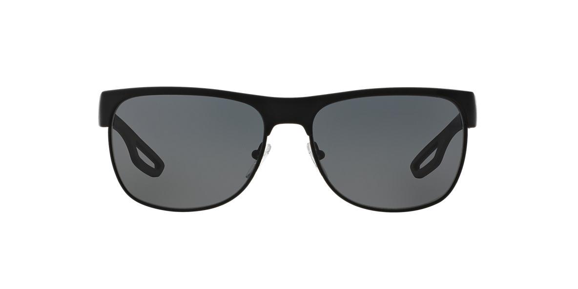 PRADA LINEA ROSSA Black PS 57QS Grey polarised lenses 58mm